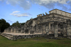 Chichen Itza and Temple of the Warriors in the Yucatan Stock Images
