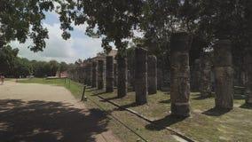 Chichen Itza, Templo de los Guerreros almacen de video