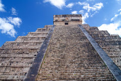 Chichen Itza top Mayan pyramid in Yucatan Stock Images