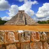 Chichen Itza Tzompantli the Wall of Skulls Stock Photos