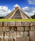 Chichen Itza Tzompantli the Wall of Skulls Stock Image
