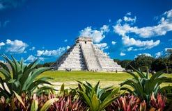 Chichen Itza, uno de los sitios arqueológicos visitados, Mexi foto de archivo libre de regalías
