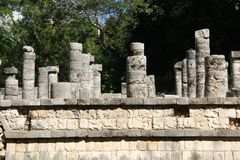 Maya ruins at Chichen Itza, Mexico. Chichen Itza was a large pre-Columbian city built by the Maya people of the Terminal Classic period. The archaeological site royalty free stock images