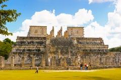 Chichen Itza, wielki Columbian miasto budował majowiem cywilnym zdjęcia stock