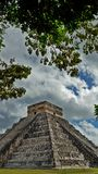 Chichen Itza in the Yucatan. El Castillo The Kukulkan Temple of Chichen Itza, mayan pyramid in Yucatan, Mexico. It`s one of the new 7 wonders of the world Royalty Free Stock Images