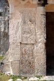 chichen tempelet för detaljitzajaguar Arkivfoto