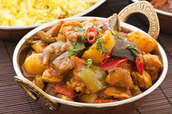 Chichen Vindaloo Stock Photo
