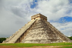 Chichenitza castle II. Main pyramid of the archaeological site of chichenitza known as kukulcan castle. Yucatan, mexico Stock Image