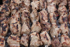 Chiches-kebabs au-dessus de charcoal-2 Photo stock