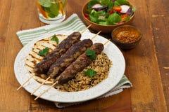 Chiches-kebabs d'agneau Photos libres de droits