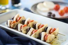 Chiches-kebabs d'Antipasto Image libre de droits