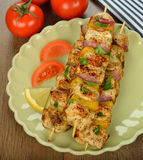 Chiches-kebabs de poulet Photo libre de droits