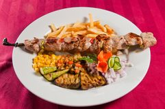Chiches-kebabs de veau Photo stock