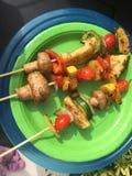 Chiches-kebabs de Veggie Photographie stock