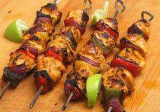 Chiches-kebabs indiens de Tikka de poulet Image libre de droits