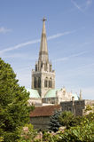 Chichester Cathedral. View of Chichester Cathedral across the gardens of the Bishop's Palace.  West Sussex Stock Photography