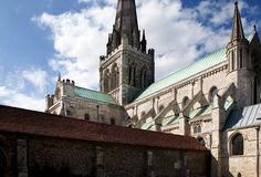 Chichester cathedral, english church Royalty Free Stock Images