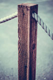 Chichester Harbour. Rope fence in Chichester harbour Royalty Free Stock Photography