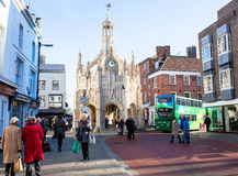 Chichester Town Clock Tower. Royalty Free Stock Photography