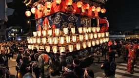 Chichibu holiday parade stock image
