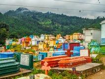 Chichicastenango - cemitério colorido de Chichicastenango na Guatemala imagens de stock royalty free
