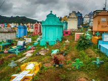 Chichicastenango - Guatemala, Kleurrijke begraafplaats van Chichicastenango in Guatemala royalty-vrije stock afbeelding