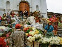 Chichicastenango - Guatemala, Kleurrijke markt van Chichicastenango in Guatemala stock fotografie