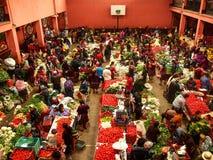 Chichicastenango - Guatemala - Kleurrijke markt van Chichicastenango in Guatemala stock foto