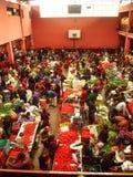 Chichicastenango - Guatemala, Kleurrijke markt van Chichicastenango in Guatemala stock foto's