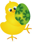 Chick Carrying Easter Egg Illustration Stock Images