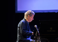Chick Corea Trio bor på etapp i IS Cracow, Polen Royaltyfria Foton