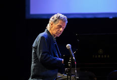 Chick Corea Trio live on stage in ICE Cracow, Poland. Royalty Free Stock Images