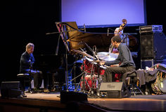 Chick Corea Trio live on stage in ICE Cracow, Poland. Stock Image