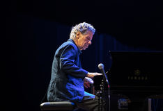 Chick Corea Trio live on stage in ICE Cracow, Poland. Stock Photos
