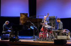 Chick Corea Trio live on stage in ICE Cracow, Poland. Stock Photography