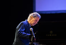 Chick Corea Trio live on stage in ICE Cracow, Poland. Royalty Free Stock Image