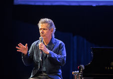 Chick Corea Trio live on stage in ICE Cracow, Poland. Royalty Free Stock Photo