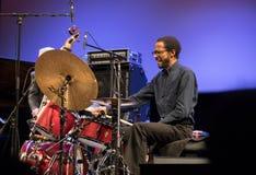 Chick Corea Trio vivo en etapa en el HIELO Cracovia, Polonia Imágenes de archivo libres de regalías