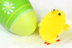 Chick and Easter egg Royalty Free Stock Photography