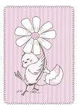 Chick with flower Stock Images