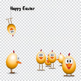 Funny Easter eggs chicks Royalty Free Stock Images
