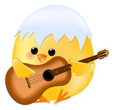 Chick with guitar Stock Photo