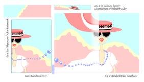 Chick Lit Book-ABDECKUNG Design für Verfasser Stockfotos
