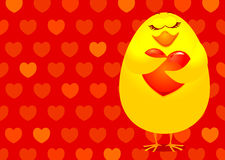 Chick in love Stock Photo