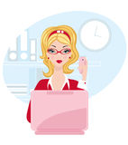 Chick office woman Royalty Free Stock Photos