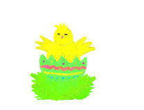 Chick painted Royalty Free Stock Photography