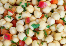 Chick-pea background Royalty Free Stock Images