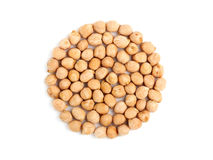 Chick-pea in the form of a circle. Stock Photography