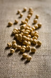 Chick Pea with sack Stock Photo