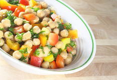 Chick Pea Salad Royalty Free Stock Photos
